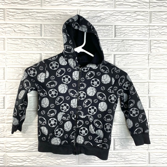 5/$25 Okie Dokie Black & Grey Sports Sweatshirt